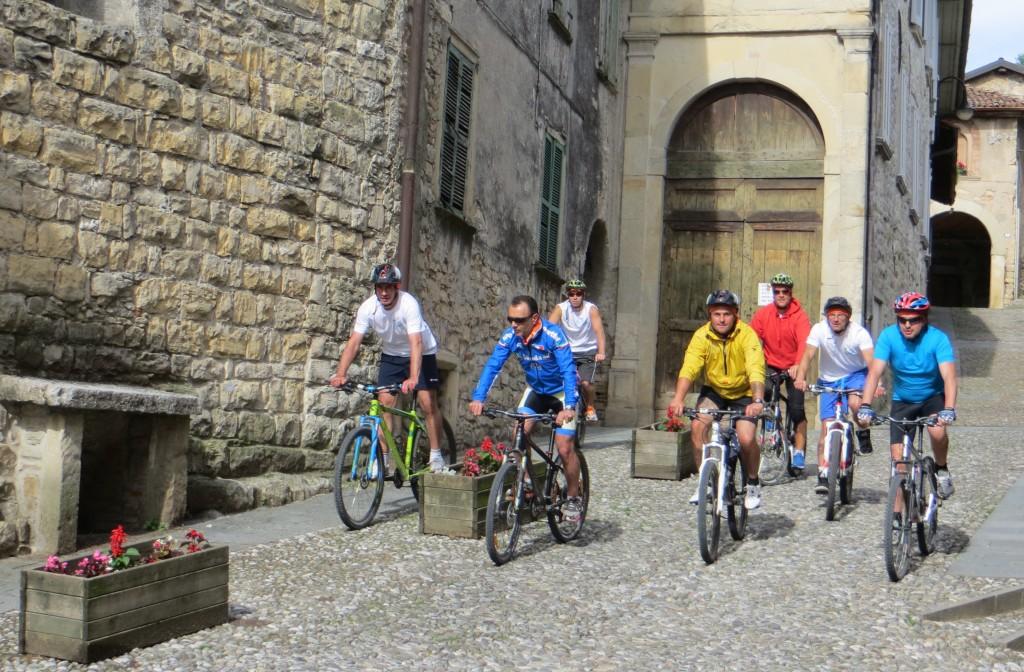Pedalando verso Bergamo