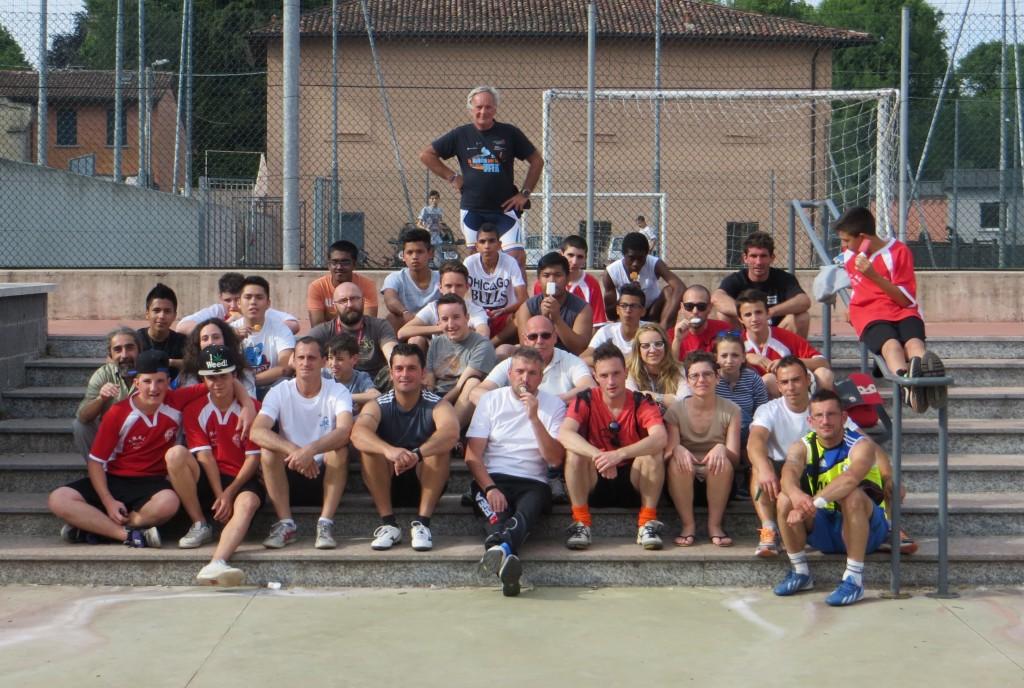 """Foto di gruppo """"calciatori e ciclisti"""""""